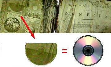 Depiction of CD in old Bible