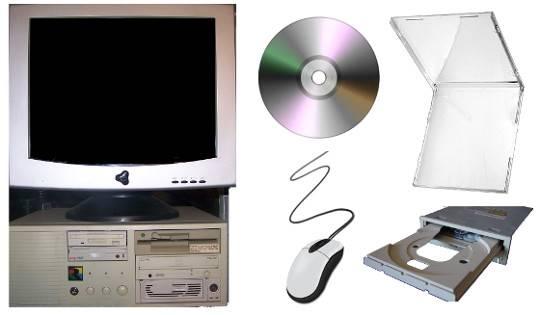 386 Desktop PC, Compact Disk, Jewel Case, CD-Drive, Mouse & Cable